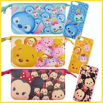 Disney迪士尼iPhone 8/7(4.7)TsumTsum彩繪軟套+手機袋...