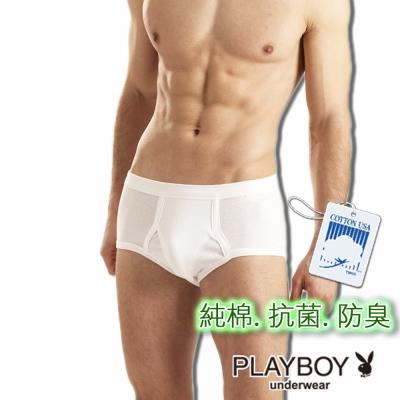 PLAYBOY 台灣製抗菌防臭純棉三角褲-單件