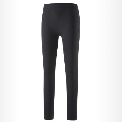 歐都納 女款質輕快乾透氣無縫貼身長褲 A-U1618W 黑/深紫紅