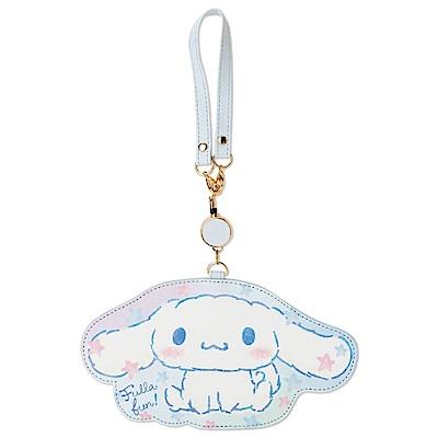 Sanrio 大耳狗喜拿 PU皮革造型拉繩伸縮車票套(幻彩星)