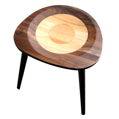 ROSA羅莎  羅勒造型小圓凳-深胡桃