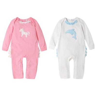 baby童衣 連身衣 荷葉邊動物造型爬服 61087