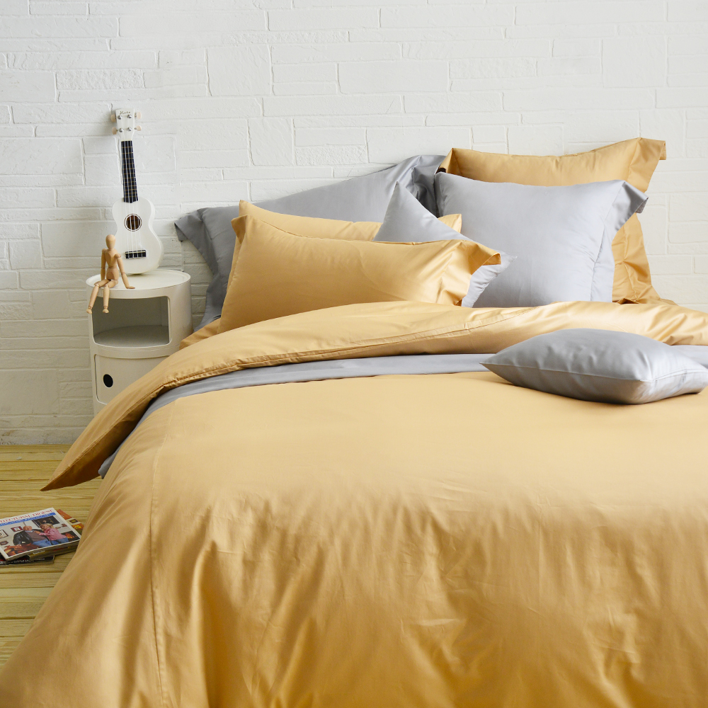 Cozy inn 極致純色-焦糖棕 特大四件組 300織精梳棉薄被套床包組