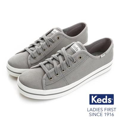 Keds 閃耀之星綁帶休閒鞋-灰色