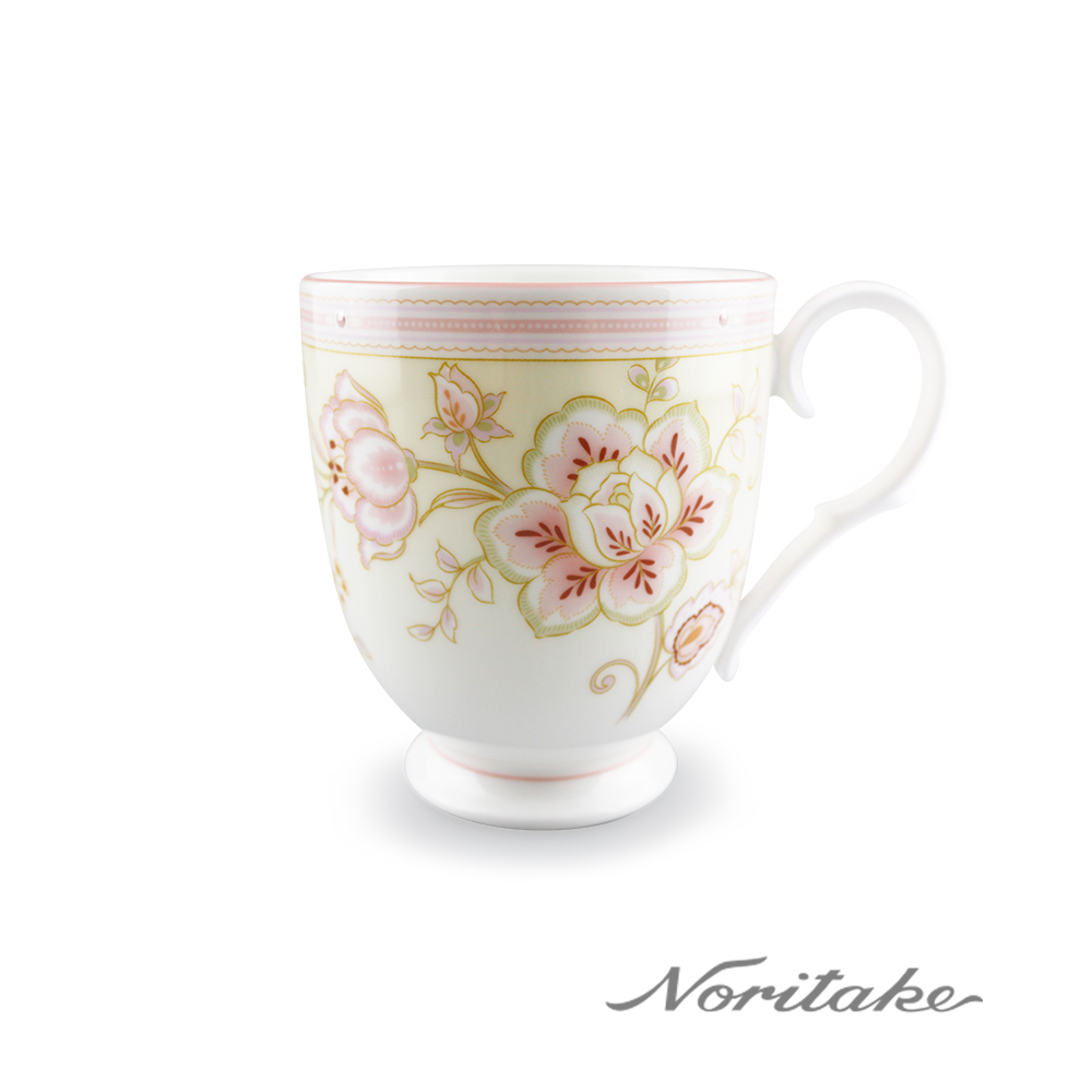 Noritake 夏日風情-繡花馬克杯-粉