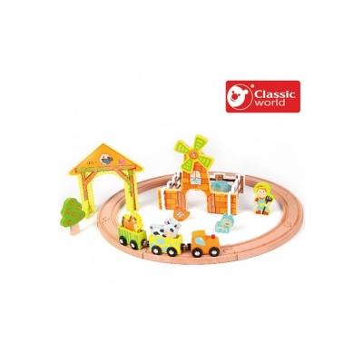 Classic World 德國經典木玩 Farm Train Set農場火車軌道(25P