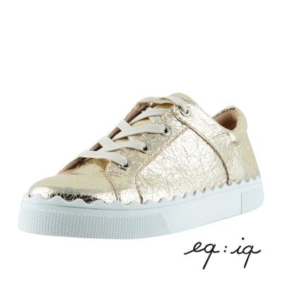 eq-iq-金屬感休閒平底鞋-奢華金