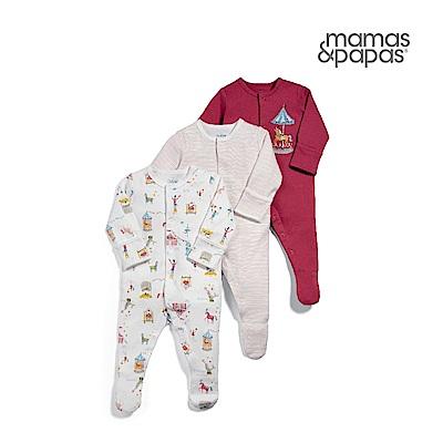 Mamas & Papas 旋轉木馬-連身衣3件組