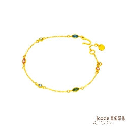 J'code真愛密碼 自信甜心黃金/水晶手鍊