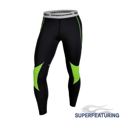 SUPERFEATURING 專業跑步三鐵 Hicolor壓縮緊身褲 亮綠