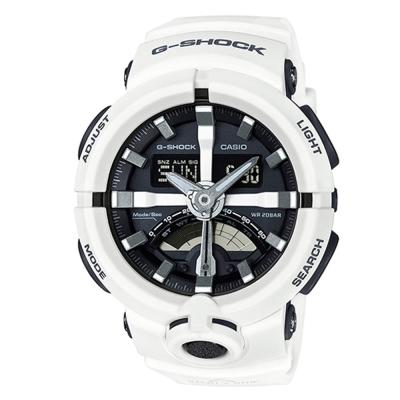 G-SHOCK前衛時尚渾圓大錶殼設計城市運動概念錶(GA-500-7A)-白48.9mm