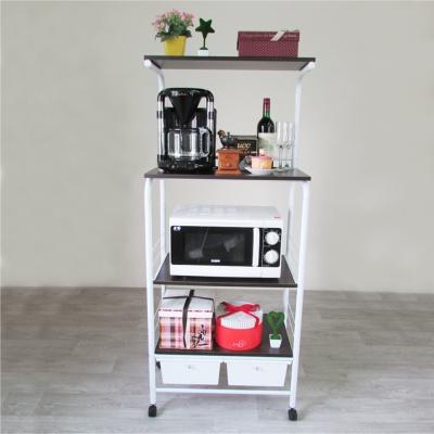 Amos-居家移動式廚房四層二抽電器架-寬63.5x深40x高149.5cm