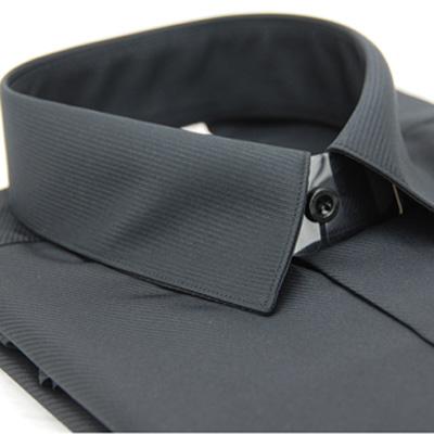 金‧安德森 黑色斜紋吸排長袖襯衫