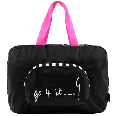 agnes b. 摺疊輕便旅行袋(小/黑)