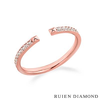 RUIEN DIAMOND 韓國輕珠寶 飾品 配件14K 玫瑰金 戒指 JR6260