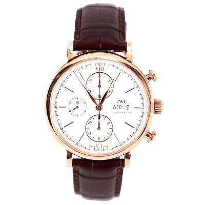 IWC 萬國錶 Portofino IW391020 柏濤菲諾玫瑰金機械計時腕錶-42mm