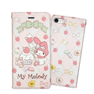 三麗鷗 My Melody iPhone 8/iPhone 7 甜心彩繪磁扣皮套...