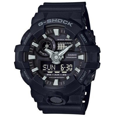 G-SHOCK創新突破金屬感搶眼視覺休閒錶(GA-700-1B)-黑面/53.4mm
