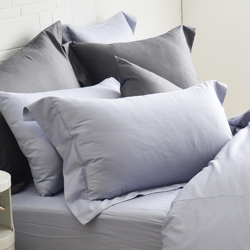 Cozy inn 極致純色-時尚紫-300織精梳棉枕頭套-2入