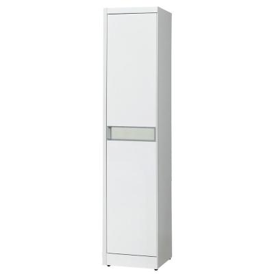 Bernice-查斯1.3尺白色衣櫃(右桶)-40x54x198cm
