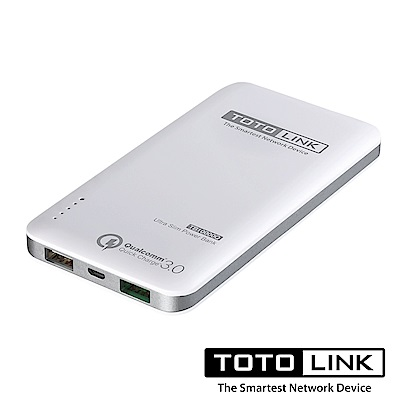 TOTOLINK 10000mAh 閃充輕薄行動電源 TB10000Q