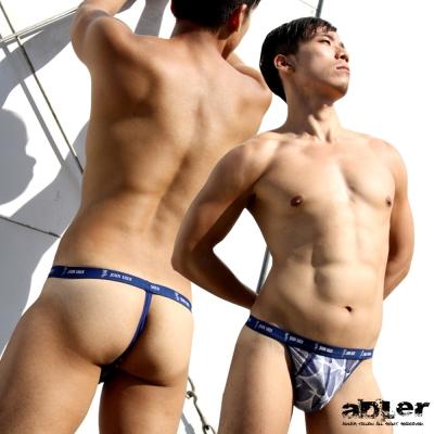 男內褲 幾何圖形丁字褲(藍)  aDLer