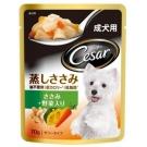 西莎 蒸鮮包 成犬用低脂雞肉與蔬菜 70g