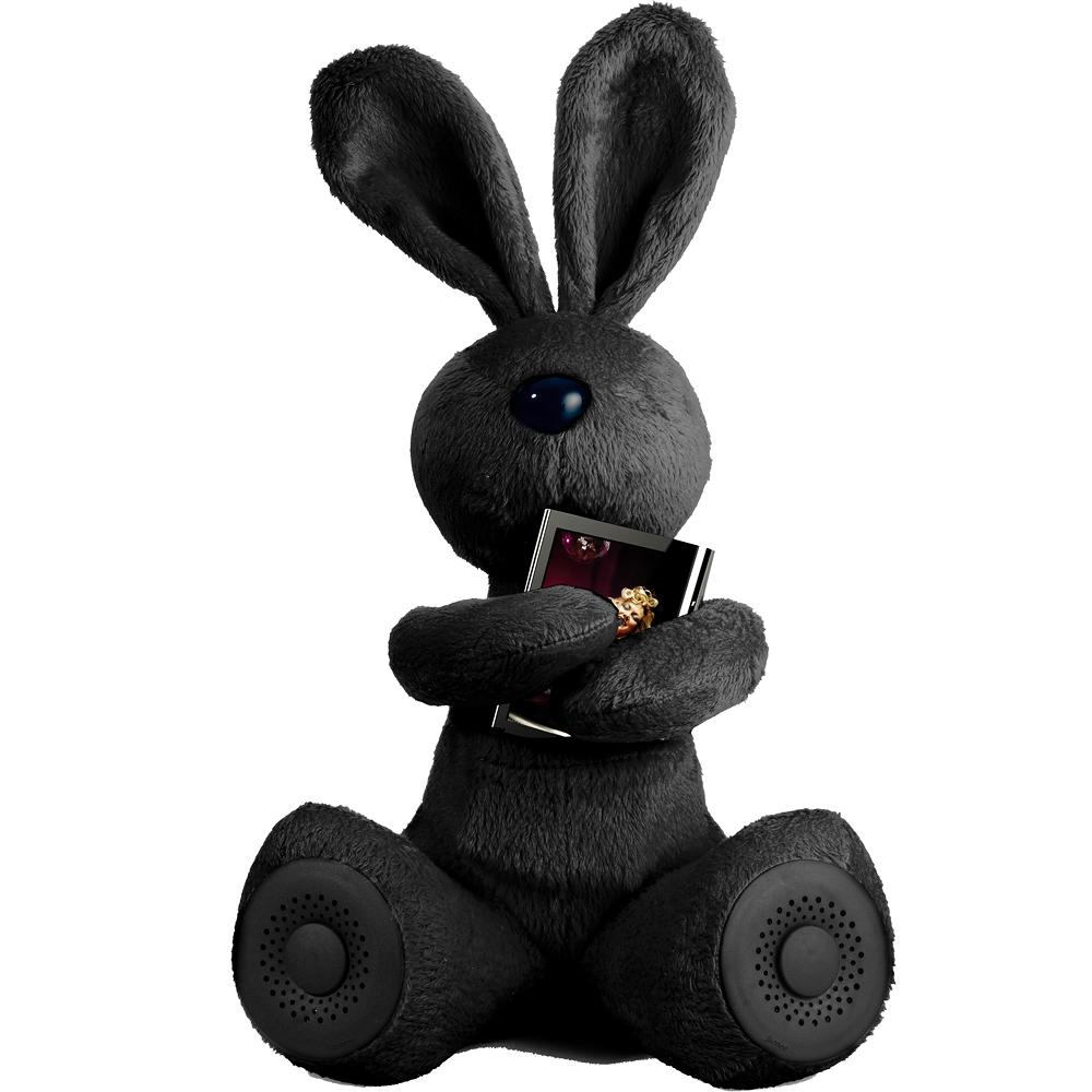《Addex》Robby 小兔抱抱揚聲器(黑)