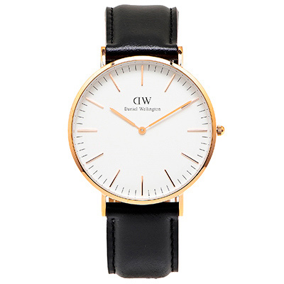 DW Daniel Wellington 經典sheffield手錶-白面X黑色/40mm