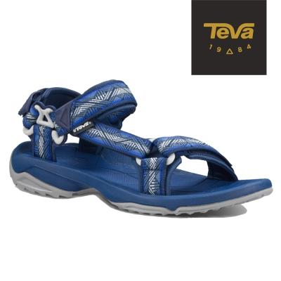 TEVA 美國 男 TERRA FI 機能運動涼鞋 (幾何藍)