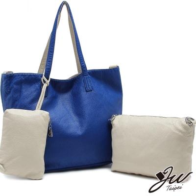 JW時尚簡約大容量雙面翻子母包三件組-共5色-天際