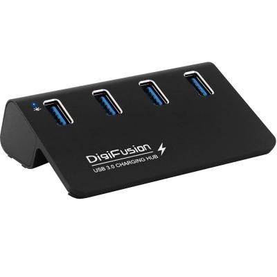 USB3.0 4埠 充電HUB 鋁合金-黑色 不含變壓器