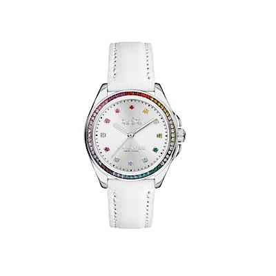 COACH 彩色水晶晶鑽皮錶帶/14502505