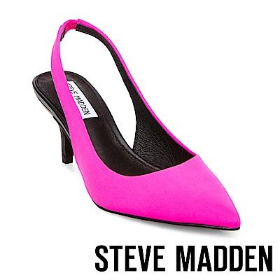 STEVE MADDEN-MARKS 尖頭細跟涼鞋-桃色