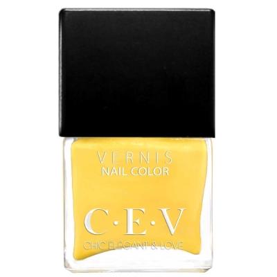 CEV輕奢指甲油 SC605 檸檬蘇打 15mL黑蓋