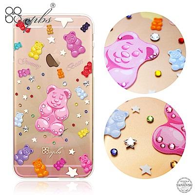 apbs iPhone6s/6 4.7吋 施華洛世奇彩鑽手機殼--軟熊很軟