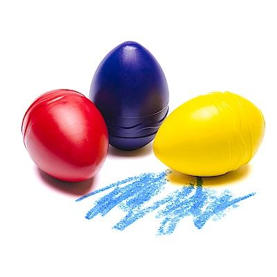 美國 Crayola繪兒樂 幼兒可水洗掌握蛋型蠟筆3色-紅黃藍(12M+)