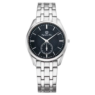 Olympia Star 奧林比亞之星經典都會系列小秒針時尚腕錶-黑/36mm