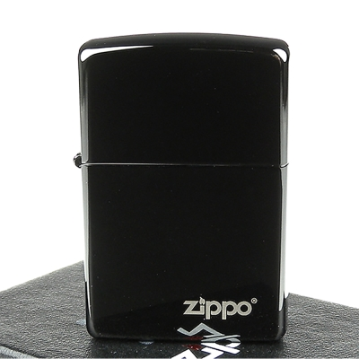 ZIPPO美系-Ebony-防刮塗料烏黑鏡面打火機