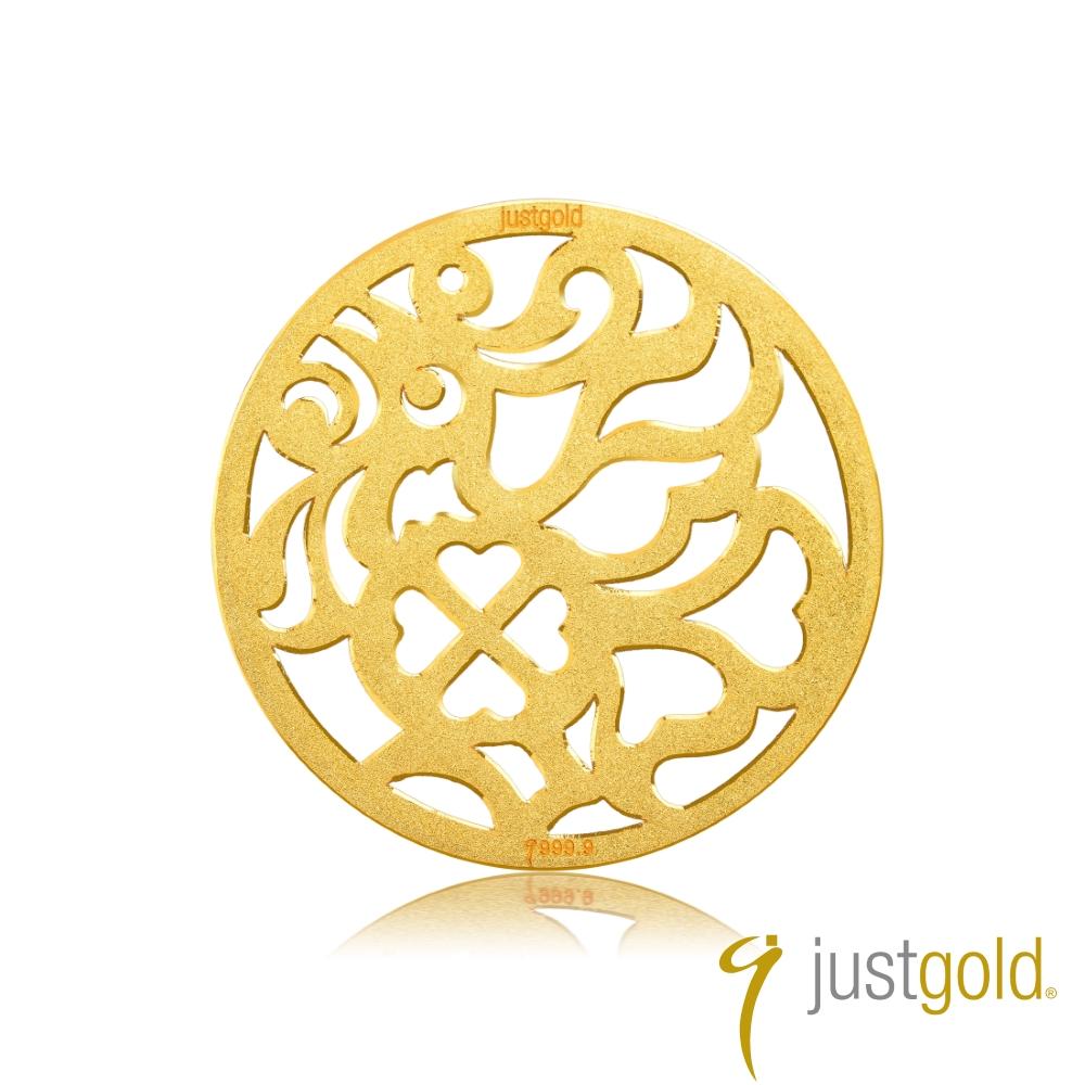 鎮金店Just Gold 金幣-花開富貴金幣(雞)