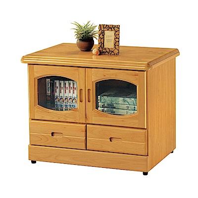 品家居 瑪爾2.8尺赤楊木實木長櫃/電視櫃-84x50x64cm免組