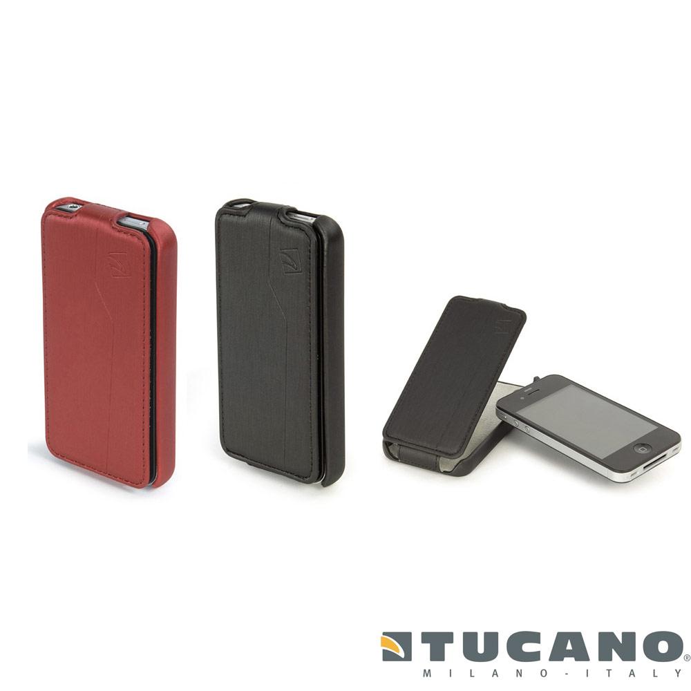 TUCANO GUSCIO Apple iPhone 4 專用金屬髮絲紋保護掀蓋式背蓋