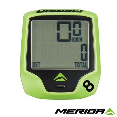 《MERIDA》美利達 有線碼表 8功能 綠1116