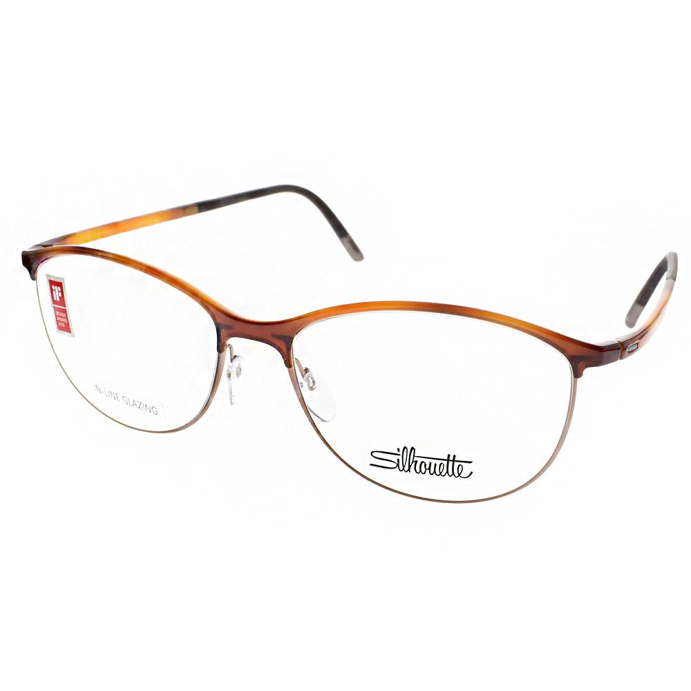 Silhouette詩樂眼鏡 極微工藝/琥珀-棕#ST1574 C6058