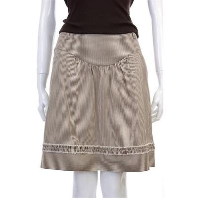 Kristina Ti 咖啡色條紋設計及膝裙