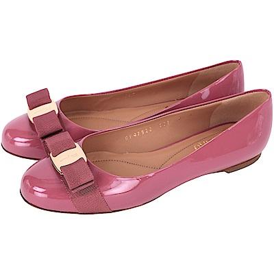 Ferragamo VARINA 漆皮娃娃鞋(6.5號/展示品)