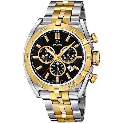 JAGUAR積架 EXECUTIVE 計時手錶-黑x雙色/45.8mm