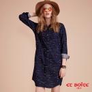 ETBOITE 箱子 BLUE WAY 小海鷗緹花襯衫式連身洋裝