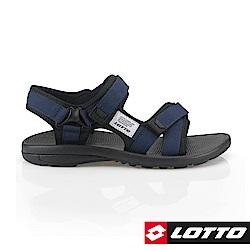 LOTTO 義大利 男 潮流織帶涼鞋(藍)