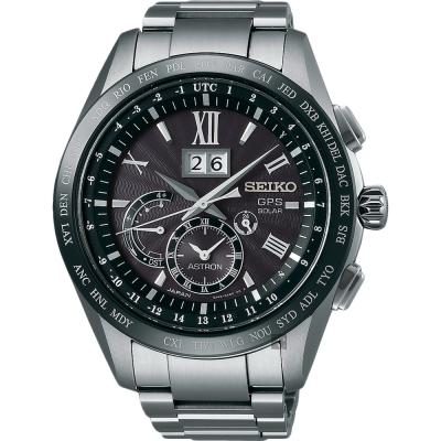 SEIKO精工 GPS 8X42 GPS太陽能鈦金屬衛星定位手錶(SSE137J1 )